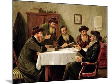 Jewish Scholars Debating-Josef Johann Suss-Mounted Giclee Print
