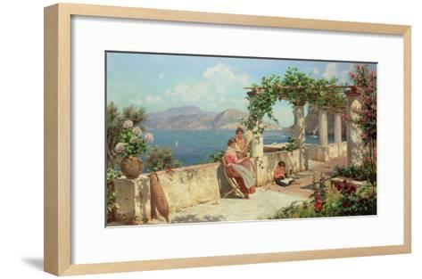 Figures on a Terrace in Capri-Robert Alott-Framed Art Print