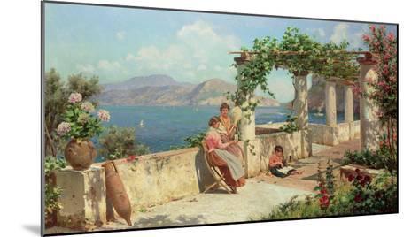 Figures on a Terrace in Capri-Robert Alott-Mounted Giclee Print
