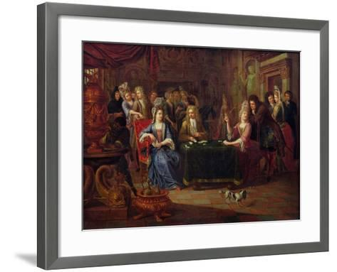 The Card Players, 1699-P. Bergaigne-Framed Art Print