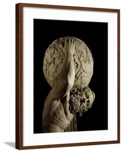 Atlas, Copy of a Greek Hellenistic Original-Roman-Framed Art Print