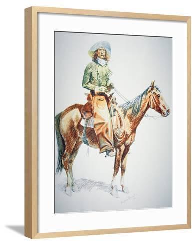 Arizona Cowboy, 1901-Frederic Sackrider Remington-Framed Art Print