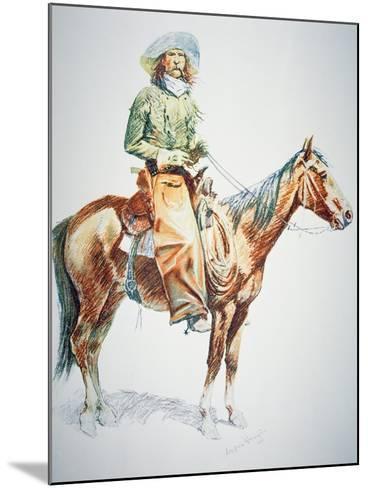 Arizona Cowboy, 1901-Frederic Sackrider Remington-Mounted Giclee Print