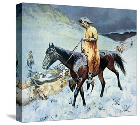 On the Trail-Frederic Sackrider Remington-Stretched Canvas Print