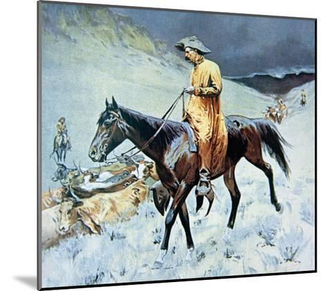 On the Trail-Frederic Sackrider Remington-Mounted Giclee Print