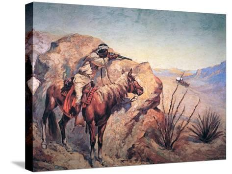 Apache Ambush-Frederic Sackrider Remington-Stretched Canvas Print