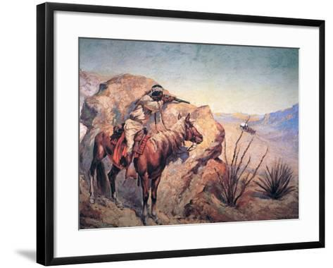 Apache Ambush-Frederic Sackrider Remington-Framed Art Print