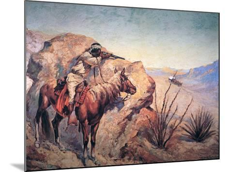 Apache Ambush-Frederic Sackrider Remington-Mounted Giclee Print