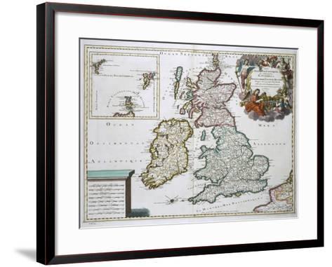 Map of Britain and Ireland-Gerard Valck-Framed Art Print