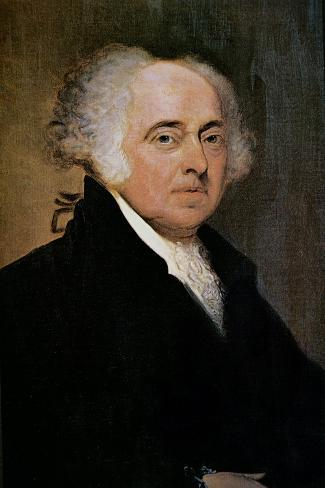President John Adams-Edgar Parker-Stretched Canvas Print
