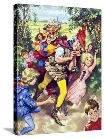 Pied Piper of Hamlin--Stretched Canvas Print