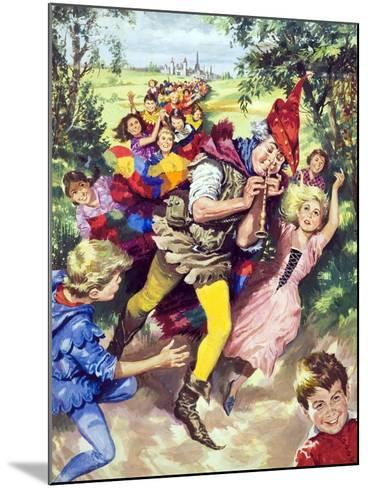 Pied Piper of Hamlin--Mounted Giclee Print