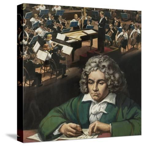 Beethoven--Stretched Canvas Print