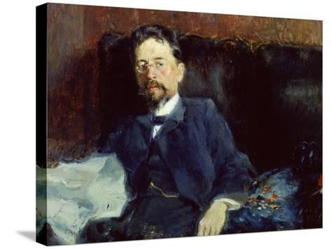 Portrait of Anton Chekhov-Peter Alexandrovich Nilus-Stretched Canvas Print