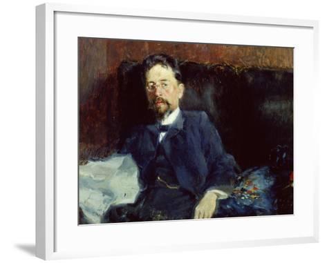 Portrait of Anton Chekhov-Peter Alexandrovich Nilus-Framed Art Print