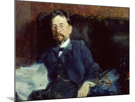 Portrait of Anton Chekhov-Peter Alexandrovich Nilus-Mounted Giclee Print