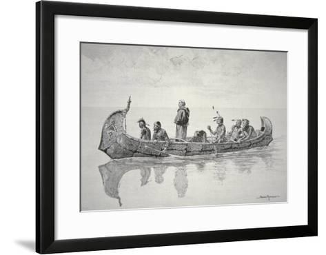 The Missionary-Frederic Sackrider Remington-Framed Art Print