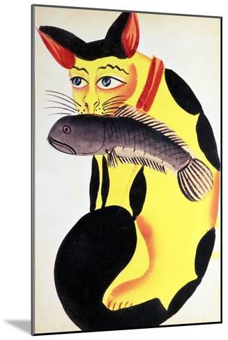 Cat with a Fish in Its Mouth, from the Rudyard Kipling Collection, Calcutta, c.1890--Mounted Giclee Print