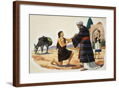 The Return of the Prodigal Son--Framed Art Print