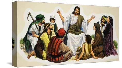 Jesus Teaching--Stretched Canvas Print