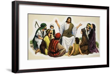 Jesus Teaching--Framed Art Print
