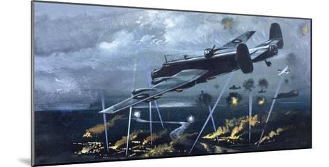 Lancaster Bomber over Germany--Mounted Giclee Print
