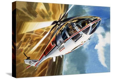 The Aerobatic Helicopter-Wilf Hardy-Stretched Canvas Print