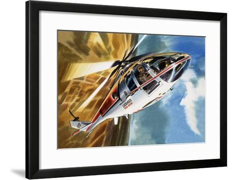 The Aerobatic Helicopter-Wilf Hardy-Framed Art Print