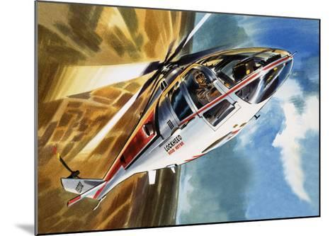 The Aerobatic Helicopter-Wilf Hardy-Mounted Giclee Print