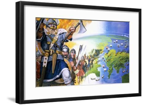 Vikings-Angus Mcbride-Framed Art Print