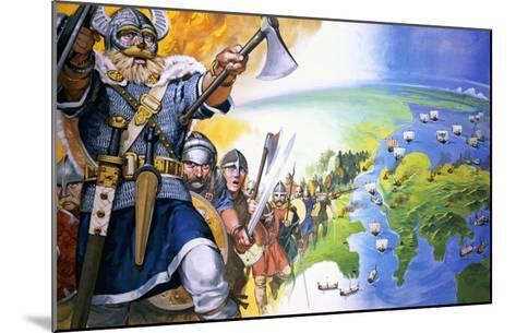 Vikings-Angus Mcbride-Mounted Giclee Print