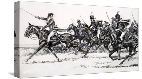 Cavalry Charge-John Millar Watt-Stretched Canvas Print