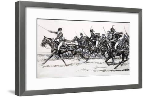 Cavalry Charge-John Millar Watt-Framed Art Print