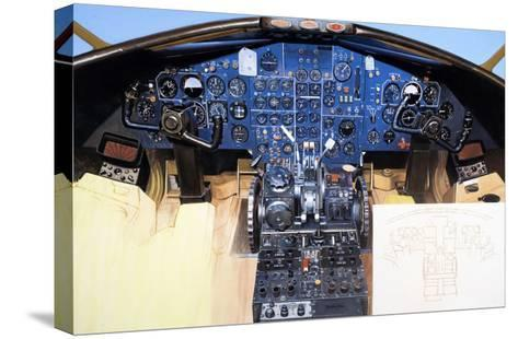 Aircraft Cockpit Instruments-Wilf Hardy-Stretched Canvas Print