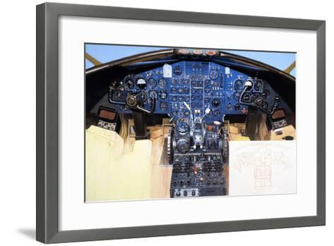 Aircraft Cockpit Instruments-Wilf Hardy-Framed Art Print