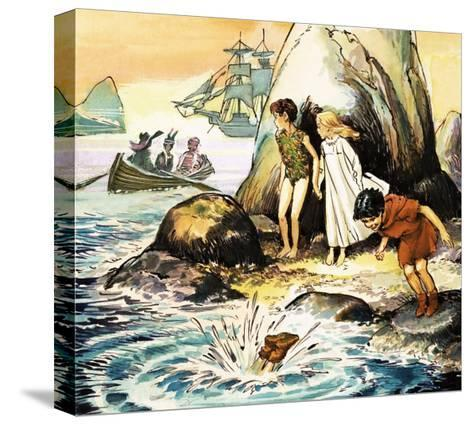 Peter Pan and Wendy-Nadir Quinto-Stretched Canvas Print