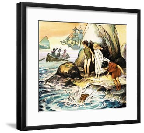 Peter Pan and Wendy-Nadir Quinto-Framed Art Print