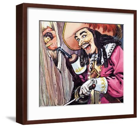 Peter Pan and Wendy-Nadir Quinto-Framed Art Print