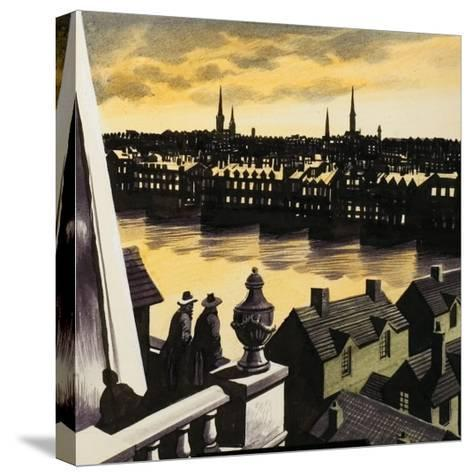 Great Fire of London-Ron Embleton-Stretched Canvas Print