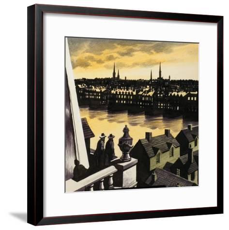 Great Fire of London-Ron Embleton-Framed Art Print
