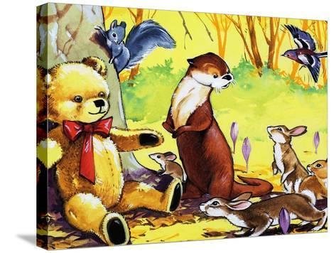 Fliptail the Otter-Bert Felstead-Stretched Canvas Print