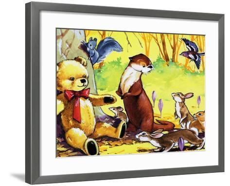 Fliptail the Otter-Bert Felstead-Framed Art Print