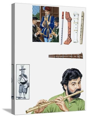 Flutes and Flutists-John Keay-Stretched Canvas Print