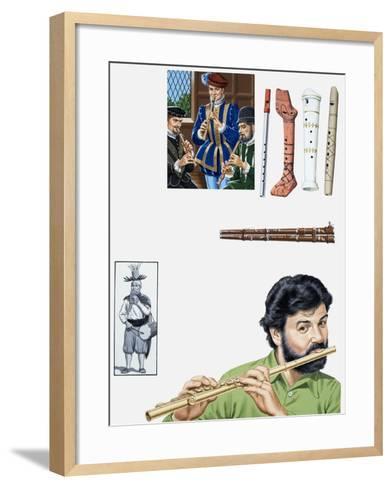 Flutes and Flutists-John Keay-Framed Art Print