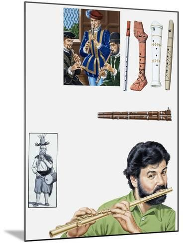 Flutes and Flutists-John Keay-Mounted Giclee Print