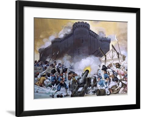 Storming the Bastille-Angus Mcbride-Framed Art Print