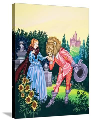 Beauty and the Beast-Ron Embleton-Stretched Canvas Print