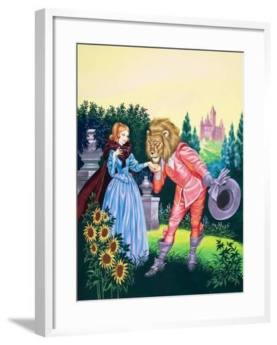 Beauty and the Beast-Ron Embleton-Framed Art Print