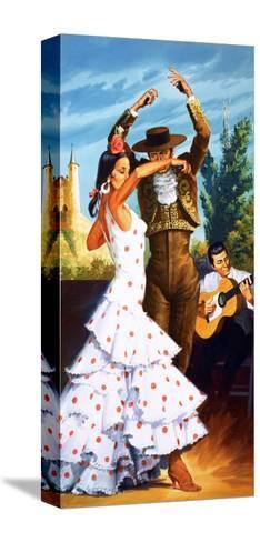 The Flamenco from Spain-Robert Brook-Stretched Canvas Print