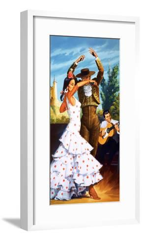 The Flamenco from Spain-Robert Brook-Framed Art Print